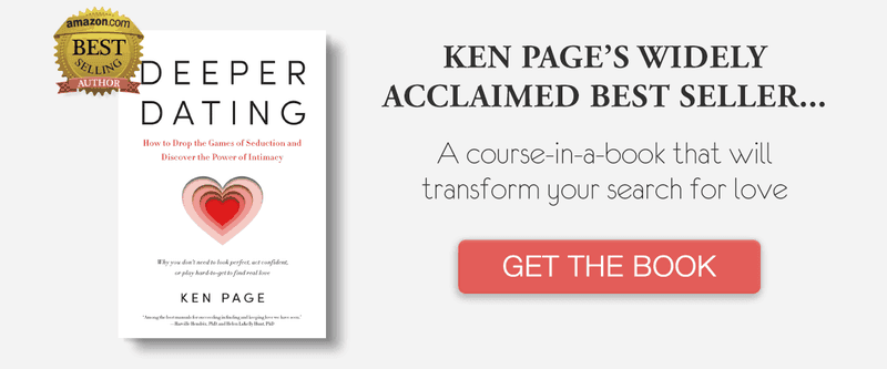 "End your longing for love with Ken's book ""Deeper Dating"""