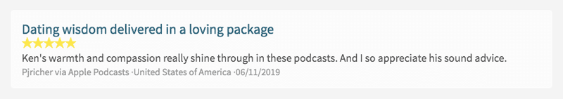 Subscribe on Apple Podcasts and Leave Ken a Review